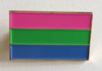 Polysexual Pride Flag Rectangular Enamel Pin Badge